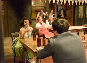 Booze up: the play includes a drunken night before the suicide. The Grand Gesture Pic Graham Burke
