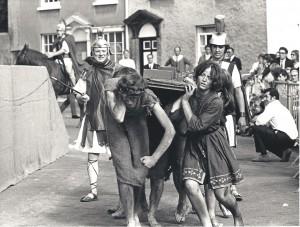 Pre ACT: a scene of Roman cruelty in the 1980 Axbridge Pageant