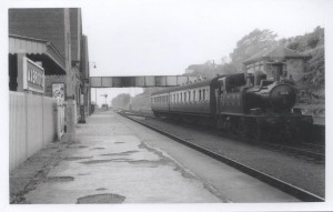Axbridge Station in the 1950s