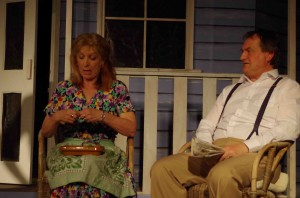Unhappy couple: Sue Hughes and Chris Jarman as Kate and Joe Keller in ACT's production of All My Sons