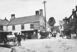 Square view: the centre of the village around 1900
