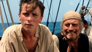 Double act: Christian Bale and Charlton Heston in Treasure Island (1990)