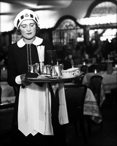 Quick cuppa: the photo is of Miss Hibbott, a Lyons Tea Room waitress back in 1939. If only tea could be served like that again