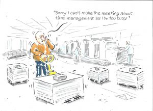 HARRY MOTTRAM FREELANCE – CARTOON: making time for time management