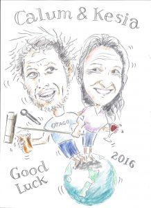 Calum and Kesia cartoon for Iona 001