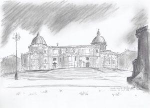 RAPSCALLION MAGAZINE: Illustration of the Basilica di Santa Maria Maggiore in Rome