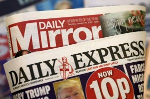 Marriage of opposites: the left leaning Mirror and the right leaning Express are now owed by Trinity Mirror