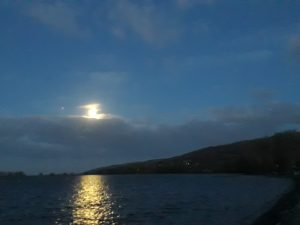 AXBRIDGE NEWS: photographs of Cheddar Reservoir at dawn during February 2018 (from moonlight to arctic light)