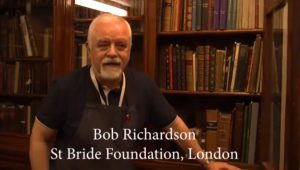 HARRY MOTTRAM FREELANCE JOURNALIST: interview with St Bride foundation's Bob Richardson about the library's collection of ancient books (including some really tiny ones written by hand in Middle English)