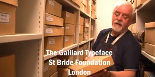 VIDEO: a short film with Bob Richardson of St Bride Foundation in London on their typeface collection