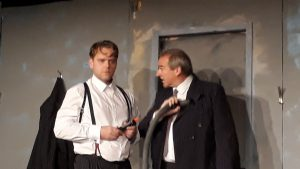 THEATRE REVIEW: Guns out, nine paces and repeat – ACT Double Bill with The Dumb Waiter and Footsteps in Axbridge Town Hall