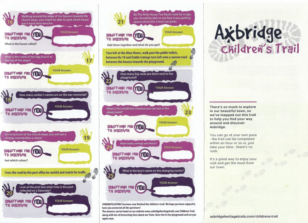 AXBRIDGE REVIEW NEWS: The Children's Heritage Trail is ready to follow – pick up the easy to complete leaflet from the museum and getting spotting!