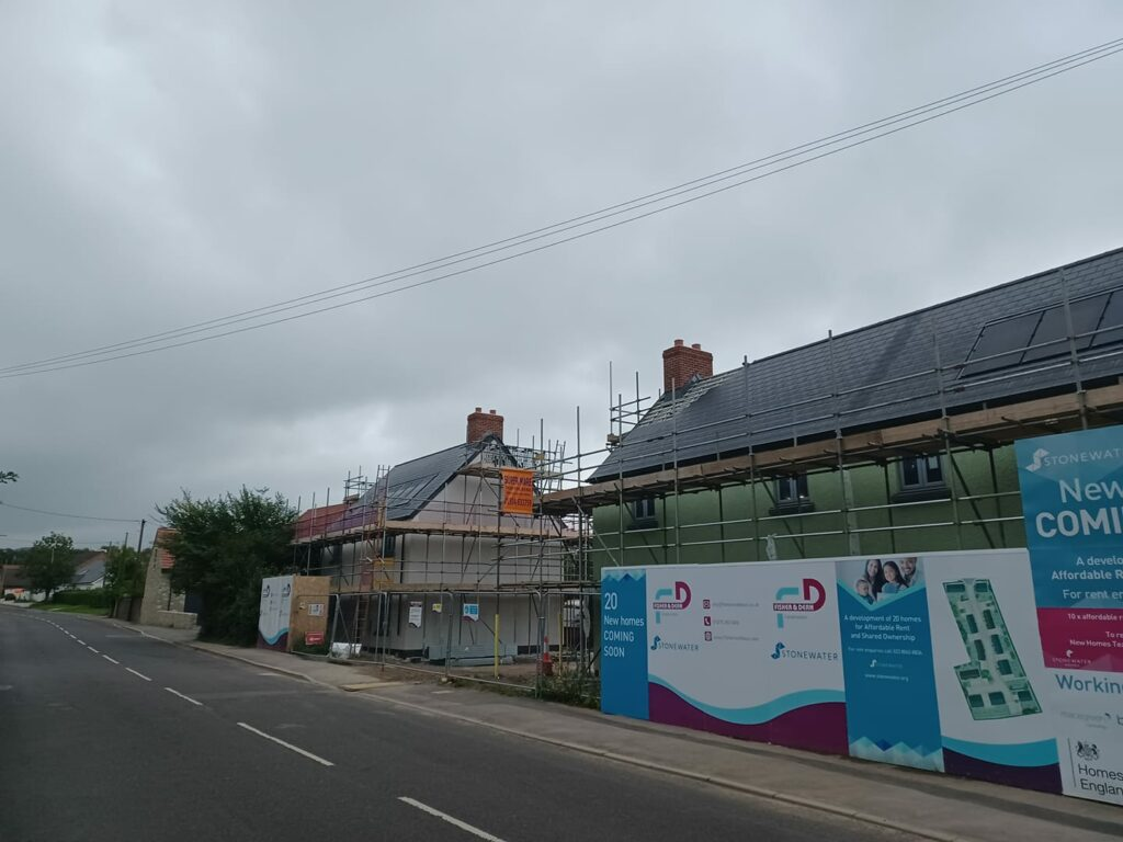 AXBRIDGE REVIEW NEWS: New homes take shape along Cheddar Road as a new era for the town is set to begin